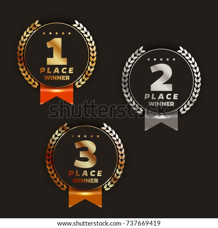 1st  2nd  3rd place logo's with