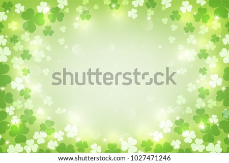 St. Patrick's glowing abstract background. vector illustration