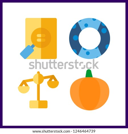 4 stack icon vector
