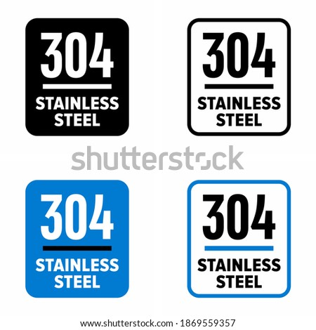 '304 stainless steel' high corrosion resistant composition information sign ストックフォト ©