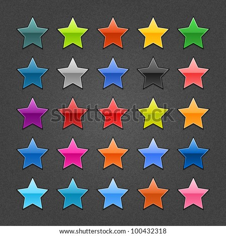 25 star sign glossy web button