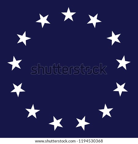 13 stars circle vector