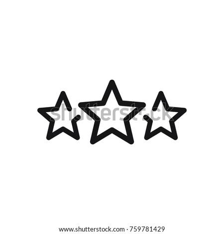 3 stars vector illustration