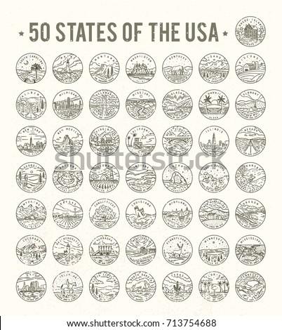 50 states of the usa. big...