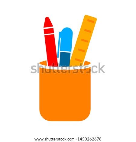 stationery holder icon. Logo element illustration. stationery holder symbol design. colored collection.  stationery holder concept. Can be used in web and mobile