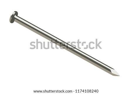 steel nail realistic vector