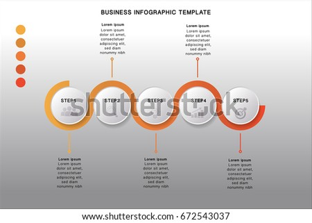 5 steps Business infographic template for presentation or information, step by step