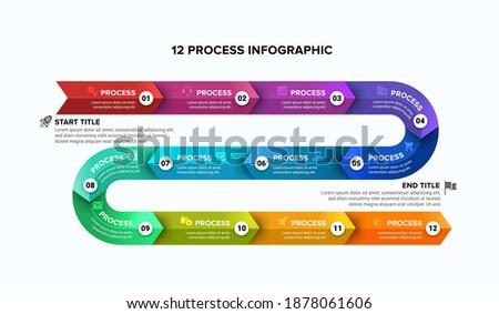 12 steps timeline arrow slide