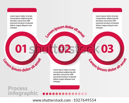3 steps vector process infographics elements.