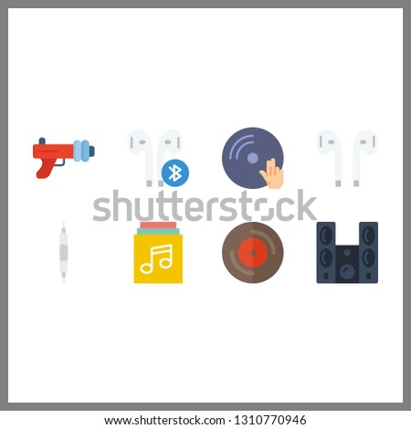 8 stereo icon. Vector illustration stereo set. sound system and blaster icons for stereo works