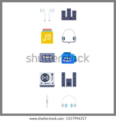 10 stereo icon. Vector illustration stereo set. sound system and volume controller icons for stereo works