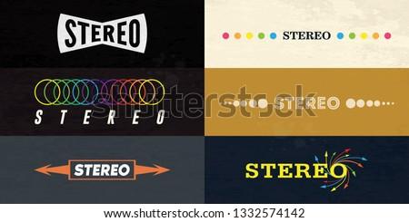 6 Stereo logo on retro style Сток-фото ©