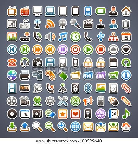 100 sticker icons