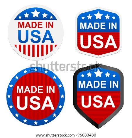 4 stickers   made in usa