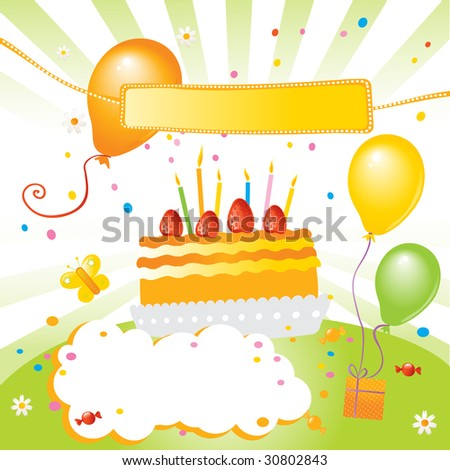 birthday cake clip art for girls. strawberry irthday cake,