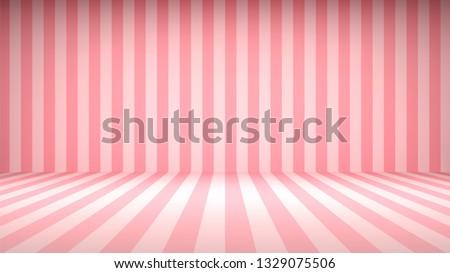 striped candy pink studio