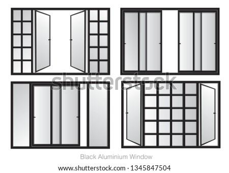4 style large windows black