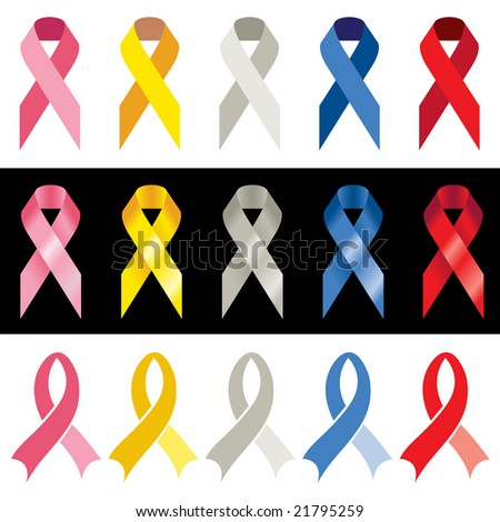 cancer ribbon colors. +awareness+ribbon+color