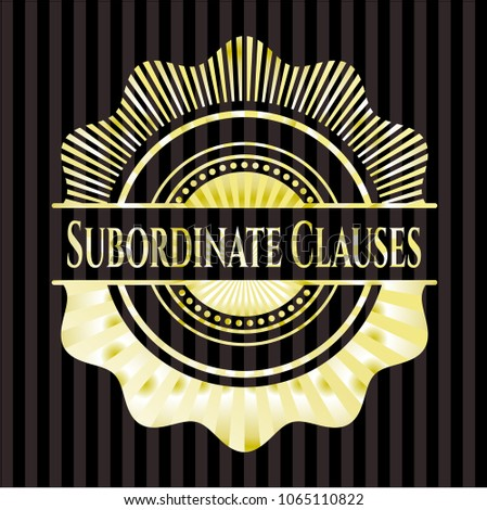 Subordinate Clauses gold shiny badge