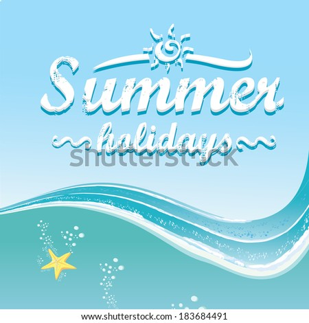 summer paradise beach background . vector cut paper summer illustration. summer holiday.