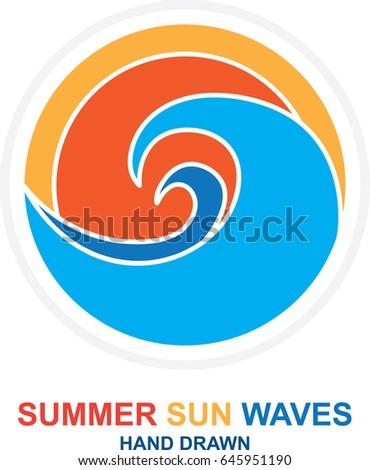 summer  sun  sea and waves