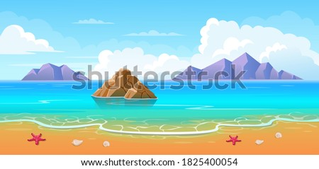 summer tropical beach with