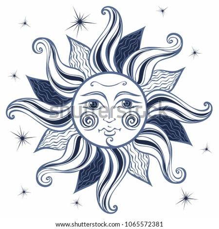 sun vintage style astrology