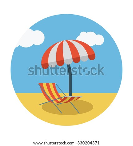 sunbathe colored vector icon