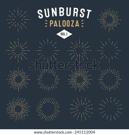 'sunburst palooza' set of retro ...