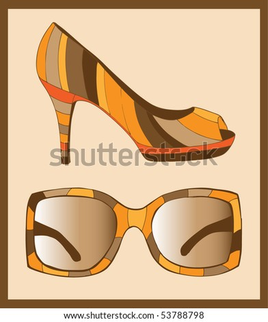 Sunglasses and fashion shoes