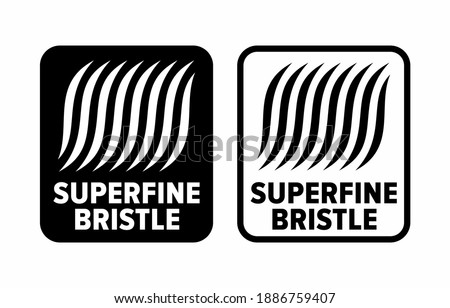 'Superfine bristle' item property information sign Сток-фото ©