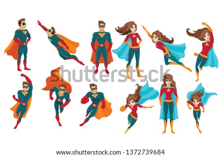 superman and supermwoman on