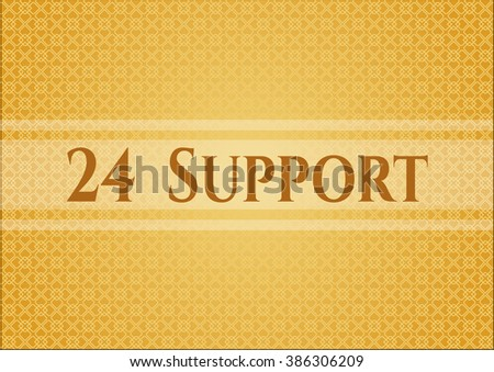 24 Support colorful banner