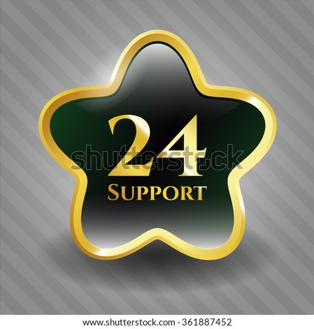 24 Support gold emblem