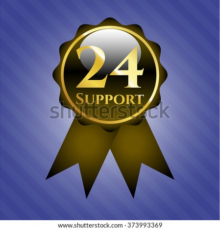 24 Support gold emblem or badge
