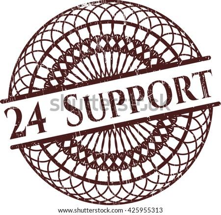24 Support grunge stamp