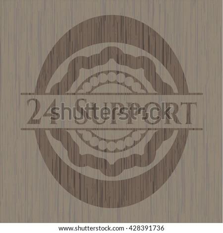 24 Support retro style wood emblem