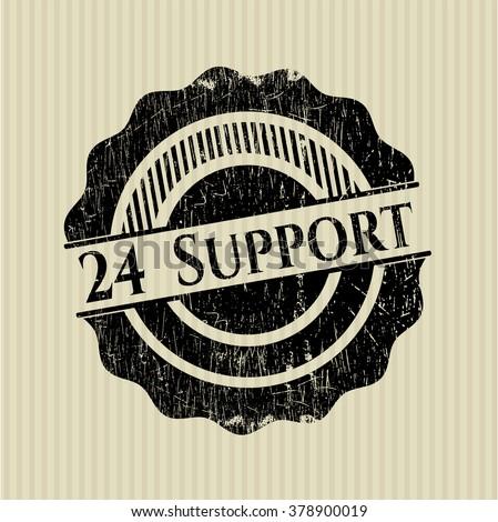 24 Support rubber grunge stamp