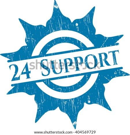 24 Support rubber grunge texture stamp