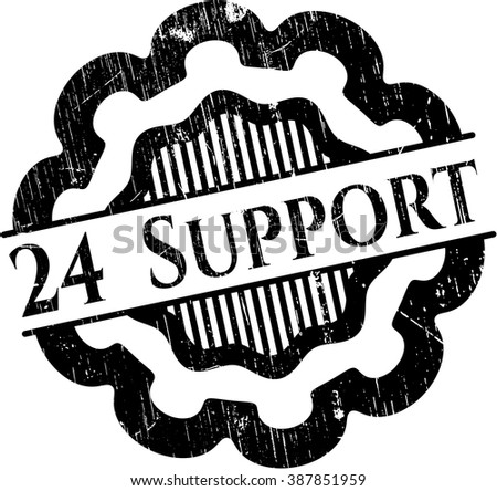 24 Support rubber seal with grunge texture