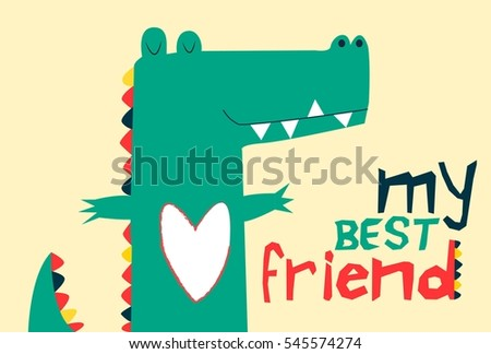 sweet crocodile vector