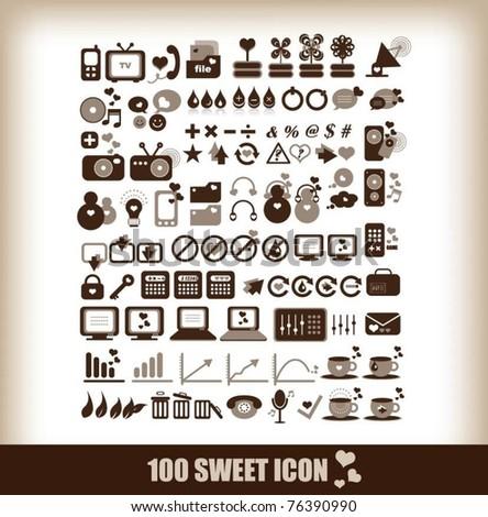 100 sweet icon