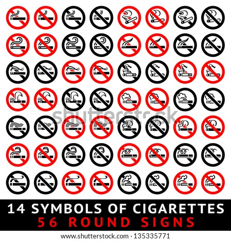 13 symbols of cigarettes  52
