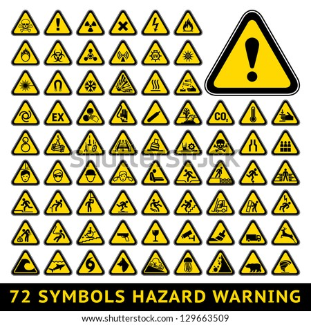 72 symbols triangular warning