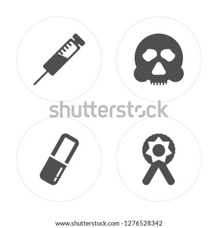 4 syringe  pill  skull  ribbon