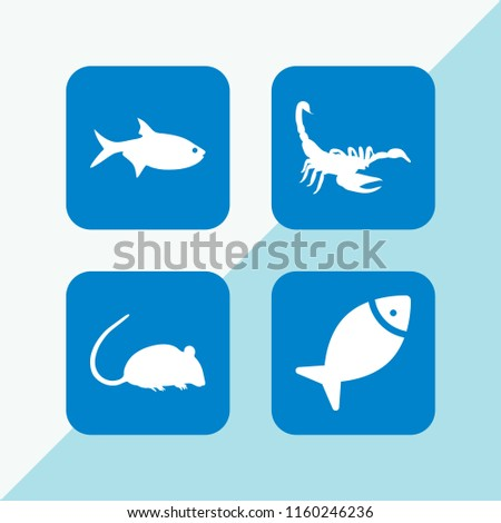 4 tail icons in vector set rat