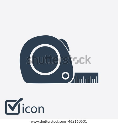 Tape measure icon. Roulette construction  simbol.
