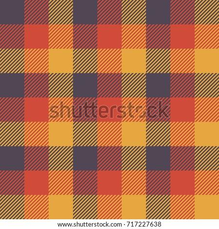 Tartan Seamless Pattern Background. Autumn color panel Plaid, Tartan Flannel Shirt Patterns. Trendy Tiles Vector Illustration for Wallpapers.
