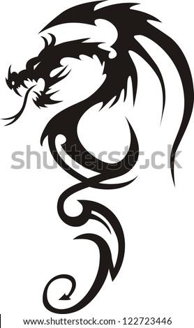 tattoo dragon vector