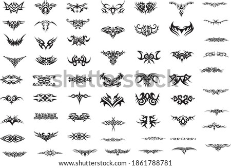 Tattoo vector clip art. Drawing on the body. Art, element.